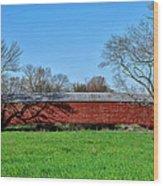 Griesemers Mill Covered Bridge Berks County Pennsylvania Wood Print