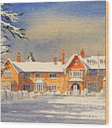 Griffin House School - Snowy Day Wood Print