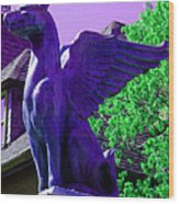 Griffin Purple Wood Print