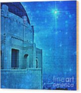 Griffith Park Observatory At Night Wood Print