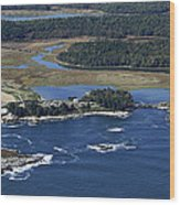 Griffiths Head At Reid State Park, Five Wood Print