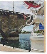 Griffin Charms The London Bridge Wood Print