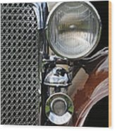 Grill And Headlight Wood Print