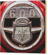 Grill Logo Detail - 1950s-vintage Ford 601 Workmaster Tractor Wood Print