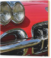 Grille On A 1960 Corvette Wood Print