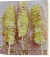 Grilled Haloumi Skewers Wood Print