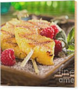 Grilled Pineapple  Wood Print
