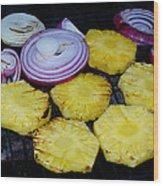 Grilled Veggies #1 Crop 2 Wood Print
