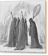 Grim Reapers Stand In A Circle Wood Print