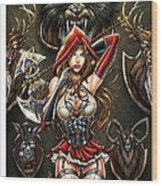 Grimm Myths And Legends 01e - Red Riding Hood Wood Print by Zenescope Entertainment