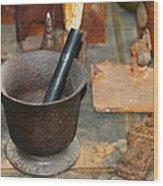 Grinding Bowl  Wood Print