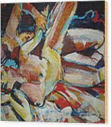 Grip Spooning Wood Print