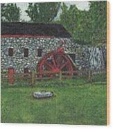 Grist Mill At Wayside Inn Wood Print