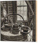 Grist Mill Wood Print by Donnie Bagwell