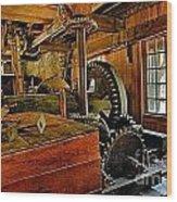 Grist Mill Gears Wood Print
