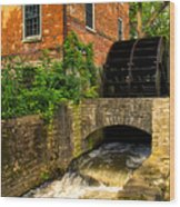 Grist Mill Wood Print by Thomas Woolworth