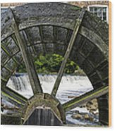 Grist Mill Wheel With Spillway Wood Print