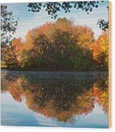 Grist Millpond Framed Wood Print by Michael Blanchette