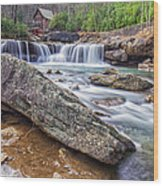 Gristmill At The Creek Wood Print