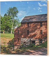 Gristmill At The Farmstead Wood Print