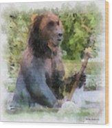Grizzly Bear Photo Art 01 Wood Print