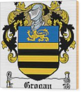 Grogan Coat Of Arms Irish Wood Print