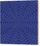 Mandala Blue Marvel Wood Print