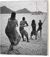 Gros Islet Fishermen Wood Print