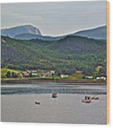 Gros Morne Mountain Over Bonne Bay At Norris Point In Gros Morne Np-nl Wood Print
