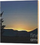 Gros Ventre Sunrise Wood Print
