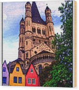 Gross St. Martin In Cologne Germany Wood Print