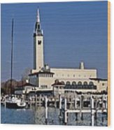 Grosse Point Yacht Club Wood Print