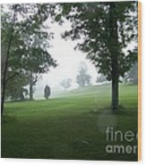 Grossinger Golf Course Rainy Day  Wood Print by Kevin Croitz