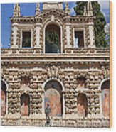 Grotesque Gallery In Real Alcazar Of Seville Wood Print