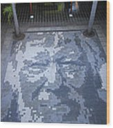 ground mosaic in the cultural center of Granada Nicaragua Wood Print