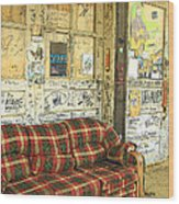 Front Porch - Ground Zero Blues Club Clarksdale Ms Wood Print