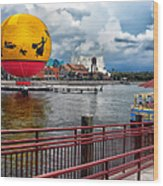 Grounded By The Storm Balloon Ride Walt Disney World Wood Print