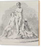 Group, In Marble Wood Print