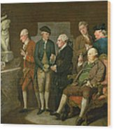 Group Of Connoisseurs Wood Print