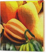 Group Of Gourds Wood Print