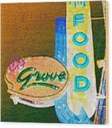Grove Fine Food Var 3 Wood Print by Gail Lawnicki