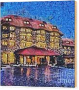 Grove Park Inn Wood Print by Elizabeth Coats