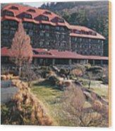 Grove Park Inn In Early Winter Wood Print