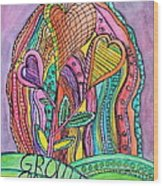 Grow In Grace Wood Print