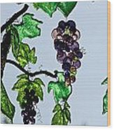 Growing Glass Grapes Wood Print