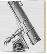 Grubb Equatorial Telescope, Hungary Wood Print by Science Photo Library