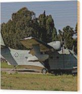 Grumman Hu-16 Albatros Of The Hellenic Wood Print