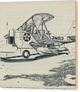 Grumman J2f-2a  Amphibian Wood Print