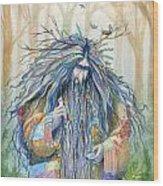 Grumpy Troll Wood Print
