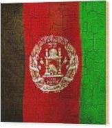 Grunge Afghanistan Flag Wood Print